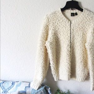 The Fisher Project | Fuzzy Knit Bomber Jacket